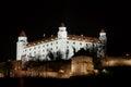 Stary hrad castle in Bratislava at night
