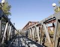 The Stary most bridge in Bratislava, Slovakia