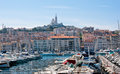Stary port marseille Obraz Royalty Free