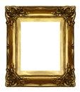 Stary sculpted złoty ramowy Obraz Stock