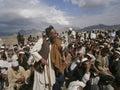 Starzejąca się mężczyzna pozycja podczas uroczystego jirga Zdjęcie Royalty Free