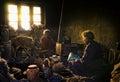 Starzy i biedni ludzie od Korzok wioski, Ladakh