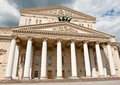 The state academic bolshoi theatre of russia in moscow sunny day Stock Photography