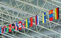State flags under ceiling Royalty Free Stock Photo