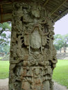 State of a god in copan ruinas honduras ancient mayan ruins or ruins Royalty Free Stock Photo