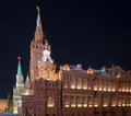 State historical museum at night moscow russia Royalty Free Stock Photography