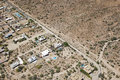 State land rooftops meet the desert near cave creek arizona Royalty Free Stock Photography