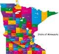 State of Minnesota Royalty Free Stock Photo