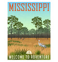 State of Mississippi travel poster or sticker Royalty Free Stock Photo