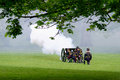 State opening of parliament in london uk may th the king s troop green park are firing gun salutes for the Stock Photo