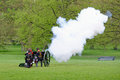 State opening of parliament in london uk may th the king s troop green park are firing gun salutes for the Royalty Free Stock Photos