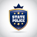 State police over gray background vector illustration Stock Images