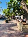 State Street in Santa Barbara Royalty Free Stock Photo