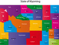 State of Wyoming Stock Photography