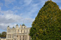 Stately home with tree Stock Photo