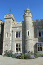 Stately kent castle and grounds Stock Images