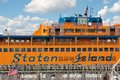 Staten island ferry new york ny usa september detail on docked at st george s on ny usa in september Stock Photography