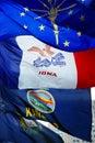 States Flags Stock Photo