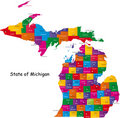 Stati del Michigan Immagine Stock