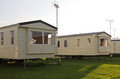 Static Caravan holiday homes on camp site Royalty Free Stock Image