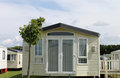 Static caravan in trailer park Stock Photography