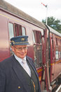 Station Master at Boat of Garten Stock Photos