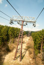 Station to stop cable car in japan for voyage Royalty Free Stock Image