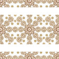 Stationery Background with Floral Borders Royalty Free Stock Photo