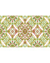 Stationery Background with Ornate Decorated Borders Royalty Free Stock Photo
