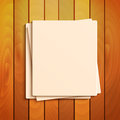 Stationery blank sheets of paper on the background a wooden surface scratch paper Stock Images