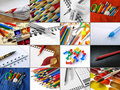 Stationery collage Royalty Free Stock Image