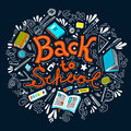 Stationery collection. Outline style. Back to school thin line vector doodle illustration template. Sketchy vector