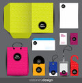 Stationery design set Stock Photos