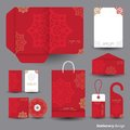 Stationery design set design template Royalty Free Stock Images