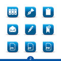 Stationery icons 2..smooth series Stock Images