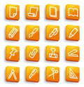 Stationery and office icons Royalty Free Stock Image