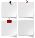 Stationery paper clips buttons and clip on a white background Royalty Free Stock Photography