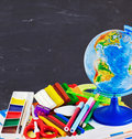 Stationery and school supplies Royalty Free Stock Images
