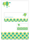 Stationery set Stock Images
