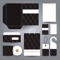 Stationery set design stationery set template corporate identity vector Stock Photos