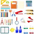 Stationery set icons.