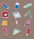 Stationery stickers Stock Photo