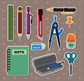 Stationery stickers Stock Photography