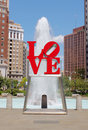 Stationnement d'amour, Philadelphie Photo stock