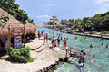 Stationnement de Xcaret Photos stock