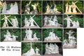 The stations of the cross fourteen each station is depicted by a sculpture Royalty Free Stock Image