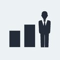 Statistic Flat Icon Stock Photo
