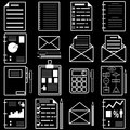 Statistics and analytics file icons. Vector Royalty Free Stock Images