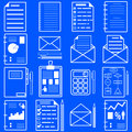 Statistics and analytics file icons. Vector Stock Photos