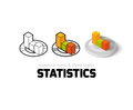Statistics icon in different style